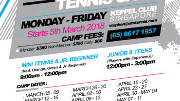 Keppel Tennis March, April & May Tennis Camp