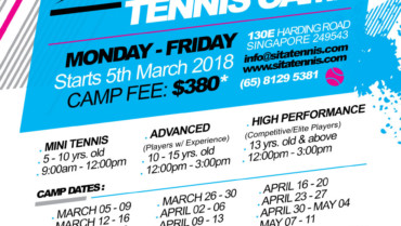 March, April & May Holiday Tennis Camp 2018